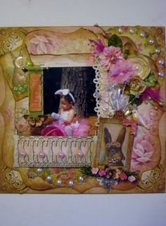 Easter layout by Delores Miller