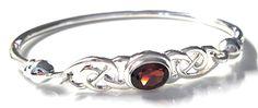 Celtic Design Garnet Bracelet