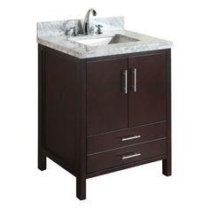 Purchase California 30 Single Bathroom Vanity Set By Kitchen Bath Collection 30 Inch Bathroom Vanity, 30 Inch Vanity, Modern Bathroom, Small Bathroom, Carrara Marble Countertop, Countertops, Vanity Cabinet, Vanity Set, Kitchen Bath Collection
