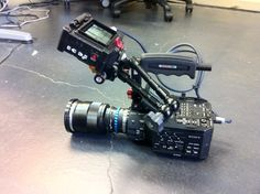 Pimped FS100 with new @Zacuto top handle. You can actually pick it up now without cringing via the old mount. solid. via @chrismmarino