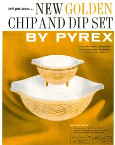 Pyrex Golden chip and dip set. Really want one of these, but not this color!!