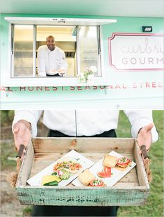Love the Mint Color of this Food Truck, and the Gourmet Food They Serve