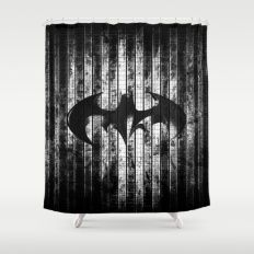 Bat in the shadow Shower Curtain