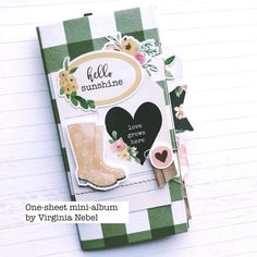 A one sheet mini album with Virginia Nebel! | Scrapbook & Cards Today magazine