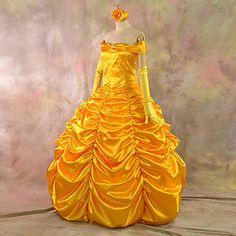 Beauty and the Beast Belle goldenen Kleid Halloween-Kostüm (2 Stück) - EUR € 99.99