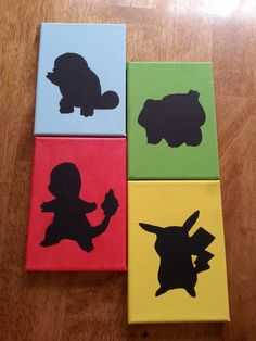 Pokemon Silhouette Painting