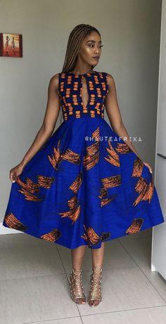 Short African Dresses, African Print Dresses, African Fashion Dresses, African Prints, African Inspired Fashion, African Print Fashion, Chic Outfits, Fashion Outfits, Shweshwe Dresses