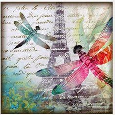 dragonfly i Imprimolandia: vintage Papel Vintage, Decoupage Vintage, Decoupage Paper, Vintage Ephemera, Vintage Paper, Dragonfly Art, Butterfly Art, Flower Art, Butterflies