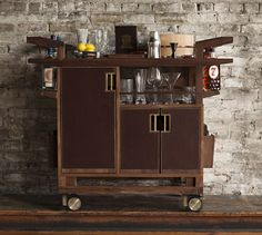 Moore and Giles Sidecar Bar Cart is the result of collaboration between Jim Meehan and Moore & Giles.