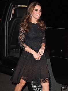 Kate heads to dinner last night in NYC, her first trip ever to NY. 12/07/2014.