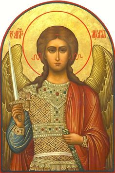 Detailed view: X045. Archangel Michael- exhibited at the Temple Gallery, specialists in Russian icons