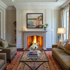 Persian Rug Design Ideas - lots of white in here and tall ceilings