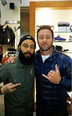 "Credit: juswhytee on IG   "" Shout out to the homie Alex O'Loughlin for comin thru the shop.  Super chill dude, check him on Hawaii Five-0 as ""Steve McGarrett"""
