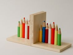 Colored Pencil Bookends