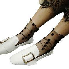 European style Socks 2014 Fashion Women's Socks New Ultra-thin Elastic Silky Short Silk Socks Women In Summer Sokken Vrouwen  #Affiliate