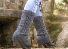 Leg Warmers Knit Boot Cuffs Hand Knitted Boot Socks by NATgirona Knitted Boot Cuffs, Knit Leg Warmers, Hand Warmers, Leg Cuffs, Knit Patterns, Hand Knitting, My Style, How To Wear, Vintage
