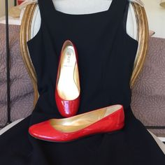 J Crew red patent leather flats J Crew red patent leather flats pre-loved but plenty of life left. J CREW Shoes Flats & Loafers