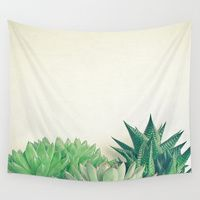 Wall Tapestry featuring Succulent Forest by Cassia Beck