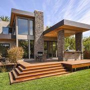 BURLINGAME RESIDENCE - large deck without railing