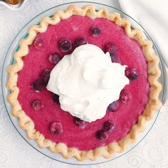 What desserts do you have planned for Thanksgiving? We've got our eye on this sweet-tart cranberry chiffon pie.