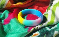 Neon Silicone Wedding Ring Women Female Girl  Fashion  Band 5.5mm Size 6 7 8 9…