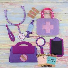 Doctor Set Embroidery Design - 5x7 Hoop or Larger