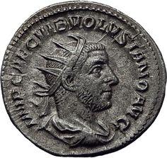 Volusian 251AD Rome Silver Authentic Genuine Ancient Roman Coin VIRTUS i65344