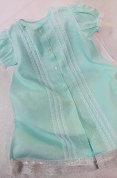 """Dot's """"Mint To Be"""" Baby Daygown - Farmhouse Fabrics Online Shop Girls Dresses Sewing, Dresses Kids Girl, Kids Outfits, Baby Dresses, Baby Girl Frock Design, Baby Girl Dress Patterns, Baby Girl Frocks, Frocks For Girls, Baby Frocks Designs"""