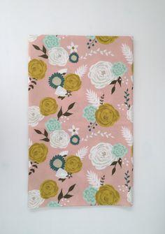 Vintage floral minky blanket, crib blanket, soft by ArcherandAntlers on Etsy