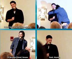 #Supernatural Jensen Ackles has no friends .. haha Jared Padalecki