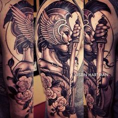 athena's shield tattoo …