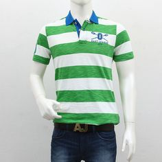 United Colors of Benetton – Green White Striped Polo T-Shirt Polo T Shirts, Benetton, Shopping Sites, Men's Collection, Outlets, Polo Ralph Lauren, Cool Style, Break Outs, Polo Shirts