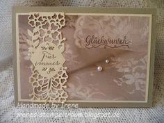 Passend zu der Geschenkbox von gestern seht ihr hier die Glückwunschkarte zur Hochzeit, in Saharasand, Vanille Pur und dem Designpapier Zum...