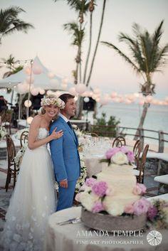 Bermuda Photographer - Amanda Temple: Chris and Kristina's Bermuda Wedding Mira Zwillinger Jules dress