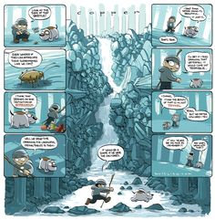 Copper Waterfall by Kazu Kibuishi Alternative Comics, Over The Garden Wall, Thing 1, Art For Art Sake, Graphic Novels, Storyboard, Waterfalls, Adventure Time, Cool Words