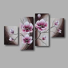 【今だけ☆送料無料】 アートパネル  静物画4枚で1セット 植物 ピンク 白 お花【納期】お取り寄せ2~3週間前後で発送予定
