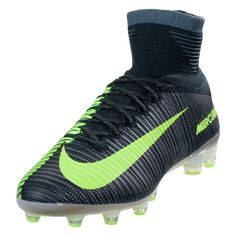 a7d13effd Nike Mercurial Superfly V CR7 AG PRO Soccer Cleat - Seaweed Metallic Silver  Volt Racing Green