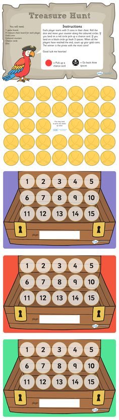Twinkl Resources >> Pirate Treasure Hunt Board Game  >> Classroom printables for Pre-School, Kindergarten, Elementary School and beyond! Board Games, Activities, Pirates