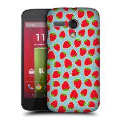 1788b0a2b5c3 Head case strawberry fruit patterns hard back case cover for motorola moto g