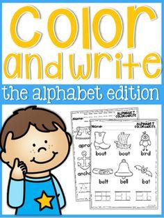 Alphabet Color and Write