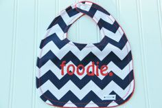 Chevron Minky Bib Chevron Stripe Bib Foodie Baby by mylittlemookie, $17.00