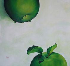 "MANZANAS VERDES -45""x47 1/2"" - óleo sobre tela - artista: Rosemary Norte"