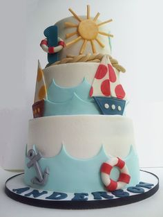 Nautical 1st Birthday. Love this! So wish I could make this.
