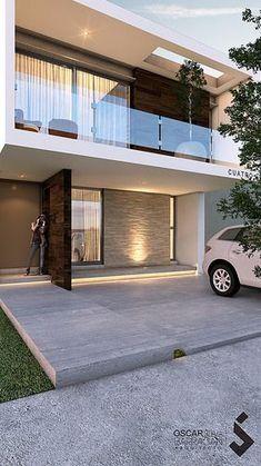 Mejores 4778 im genes de fachadas minimalistas en for Fachadas de casas modernas en hermosillo
