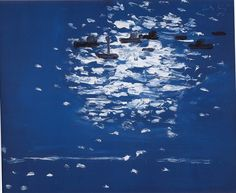 Alex Katz, Lincolnville Harbor, Maine. It's never too late to start your day over.