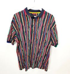 Vintage Retro Cotton Traders Coogi Style Textured Collared Shirt Men Size  Large  CottonTraders  retrofashion 2ac307fd92013