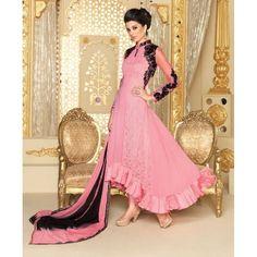 Designer Georgette Embroidered Party Wear Pink Anarkali Salwar Suit - 3708 ( SS-Vipul-3701 )