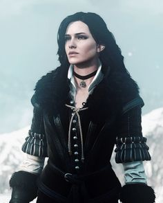 "Yennefer of Vengerberg from ""The Witcher 3 Wild Hunt"" h on Yennefer of Vengerberg Yennefer Witcher, Yennefer Cosplay, Witcher Art, Yennefer Of Vengerberg, Geralt Of Rivia, Fantasy Rpg, Medieval Fantasy, Alfie Solomons, The Witcher Game"