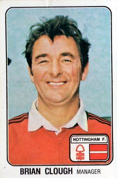 Nottingham Forest manager Brian Clough in Brian Clough, Nottingham Forest, 1970s, Management, Football, Soccer, Futbol, American Football, Soccer Ball