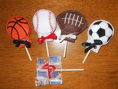 In The Hoop Felt Sports Ball Lollipop Holder by NewfoundApplique, $4.49